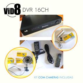 Dvr Camera Segurança 16 Canais O Melhor Kit C/ 16 Câmera