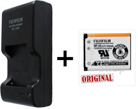 Fu+n* Kit 2 Bateria Np45 + 1 Carregador Original Bc-45b