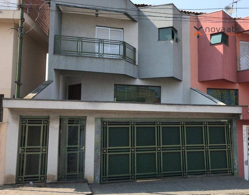 Sobrado Alto Padrão Com 5 Dormitórios E 4 Andares Para Alugar, 380 M² Por R$ 4.000/mês - Parque Das Nações - Santo André/sp - So0409