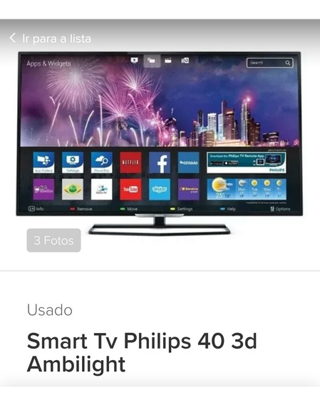Smartv Philips 40 Polegadas 3d