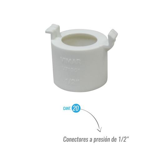 Imagen 1 de 2 de Combo De 40 Unid Conector A Presion De 1/2  Cajetin Vimar