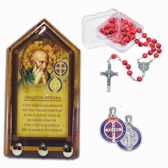 Porta Chaves - Terço Das Rosas - Medalha - São Bento