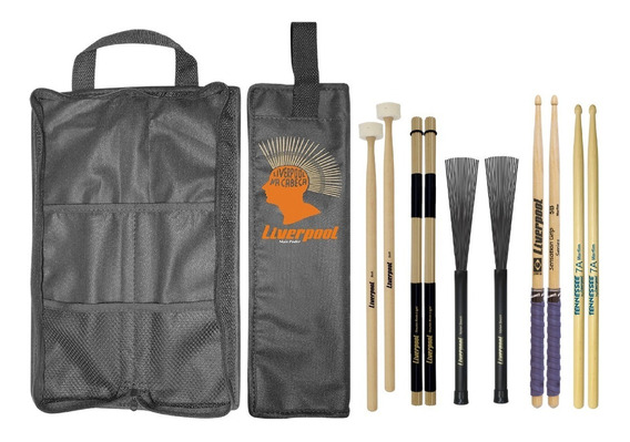 Kit Baqueta 7a 5b Malet Vassourinha Acoustic Bag Liverpool