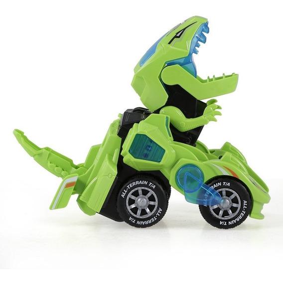 Auto A Tracción, Se Convierte En Dinosaurio
