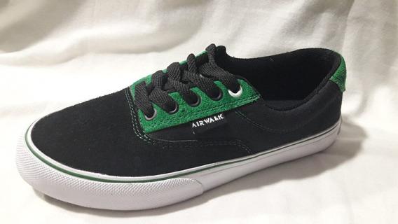 Zapatillas Airwalk Ntx Negra Verde Liquidación !