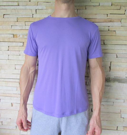 Camiseta Poliamida Dry Fit Básica Lisa Sem Estampas