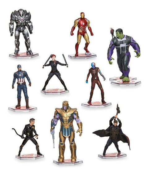 Disney Store Avengers Endgame Deluxe Set Figurines