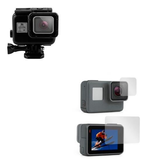 Caixa Estanque + Pelicula Para Câmera Gopro Hero 5 6 7