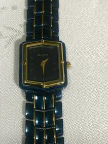 Relógio Bulova Feminino Quartz Cerâmica Azul 98l13