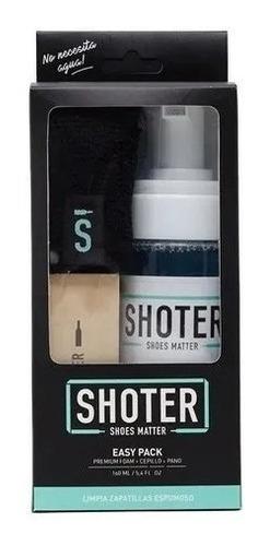 Imagen 1 de 3 de  Limpia Zapatillas Shoter Easy Pack-kit (espuma+cepillo+paño