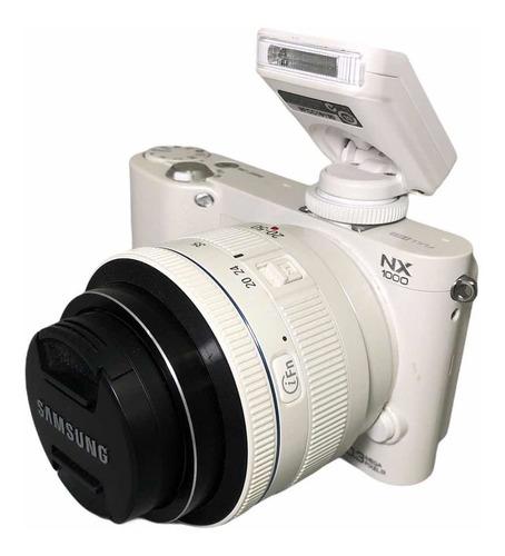 Câmera Samsung Nx1000 Full Hd Wi-fi Lente 20-50 Mm Seminova