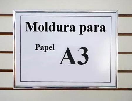 Kit 2 Moldura De Alumínio Tamanho A3 Para Certif E Diploma