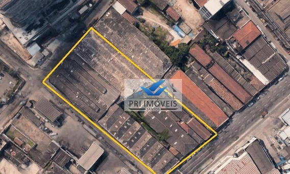 Terreno À Venda, 6800 M² Por R$ 30.000.000 - Centro - Santos/sp - Te0016
