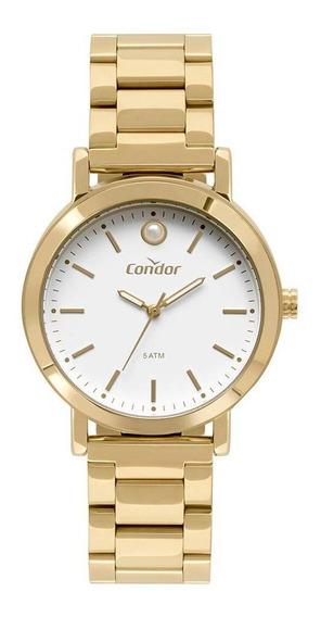 Relógio Condor Feminino Bracelete Dourado Co2035ezu/k4b