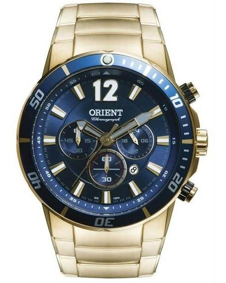 Relógio Orient Masculino Dourado Cronógrafo Mgssc007