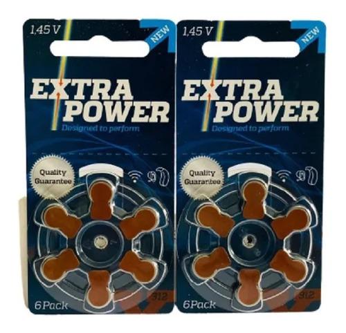 Imagem 1 de 3 de Para Aparelho Auditivo Extra Power P312 - 12 Unidades