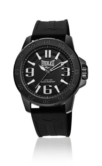 Relógio Pulso Everlast Masculino Esporte Silicone Preto E696