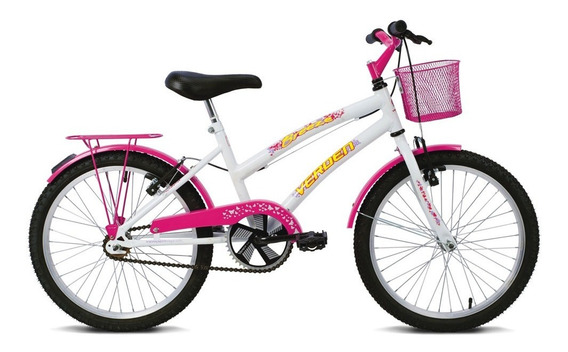 Bicicleta Breeze - Aro 20 - Branco E Pink - Verden Bikes
