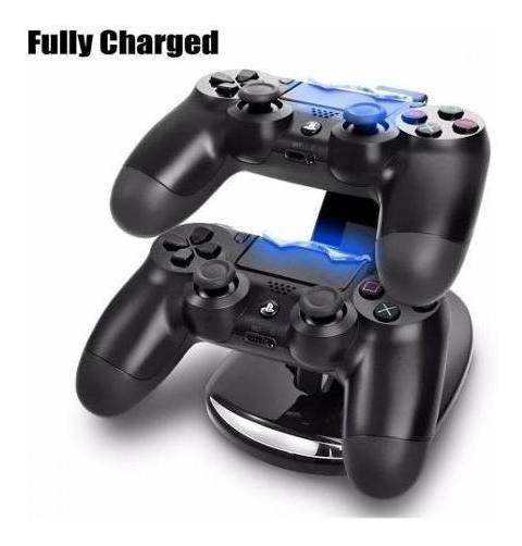 Carregador Duplo Ps4 Playstation 4 Base Dock 2 Controle Sony
