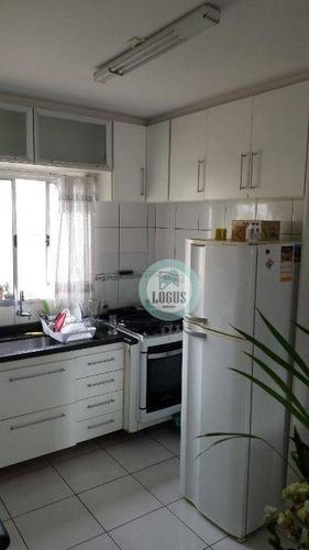 Imagem 1 de 9 de Apartamento Bem Distribuído De 60m² Composto Por 2 Dormitórios, À Venda Por R$ 245.000,00 - Vila Edízia - Santo André/sp - Ap1752