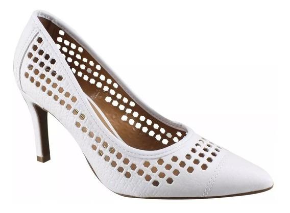 Sapato Branco Feminino Scarpin Vizzano Noiva Original