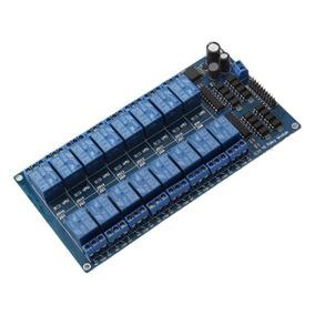 Módulo Relé 16 Canais 12v 5v Com Optoacoplador Para Arduino
