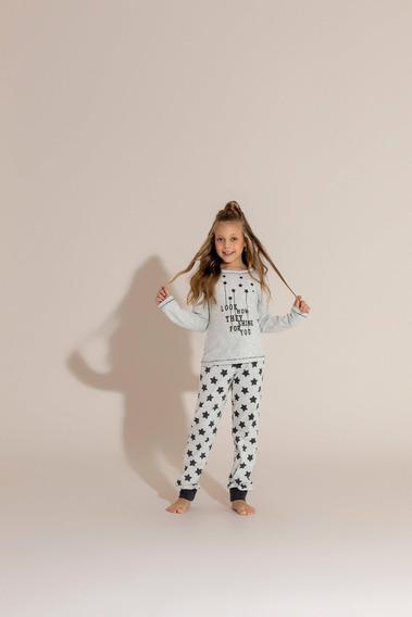 Pijama Longo Infantil 1/2 Malha - Ref. 14018