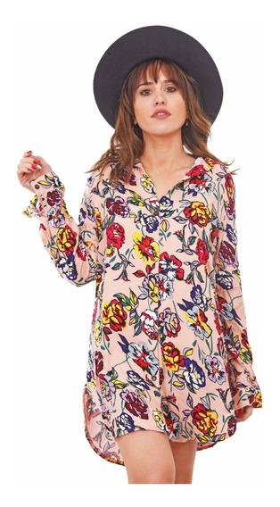 Customs Ba Camisolas Mujer Importada Largas Vestidos Flores