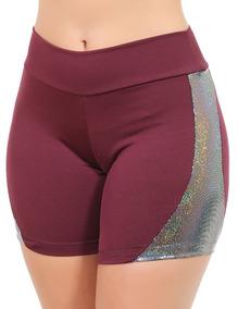 Kit 10 Short Femininas Fitness Shortes Roupas Brilho 9857