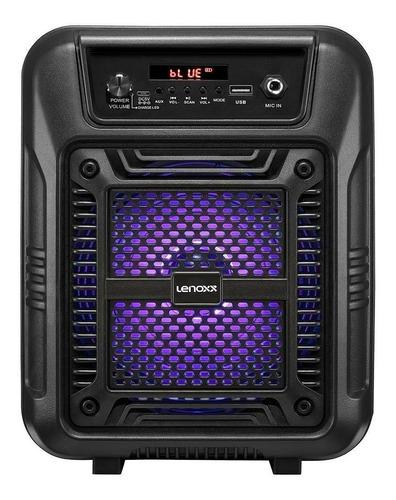 Alto-falante Lenoxx CA60 portátil com bluetooth preto 110V/220V