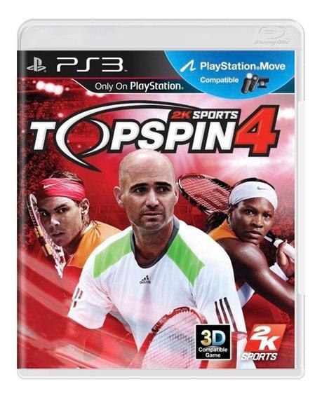 Game Play3 - Top Spin 4 - Semi-novo Jogo Ps3