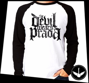7198f2edca Manga Longa The Devil Wears Prada Banda Rock Camisa E03