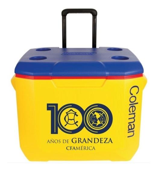 Hielera 60 Cuartos Club América 100 Años Amarilla Con Azul Coleman 3000003554