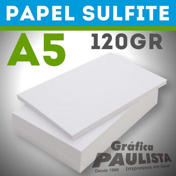 Papel Sulfite Branco Offset A5 120gr 500 Folhas