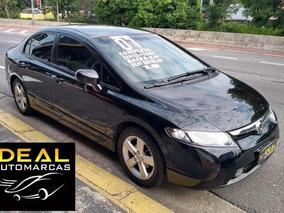 Civic Lxs 2007 Manual B/de Couro S/retoque Baixo Km