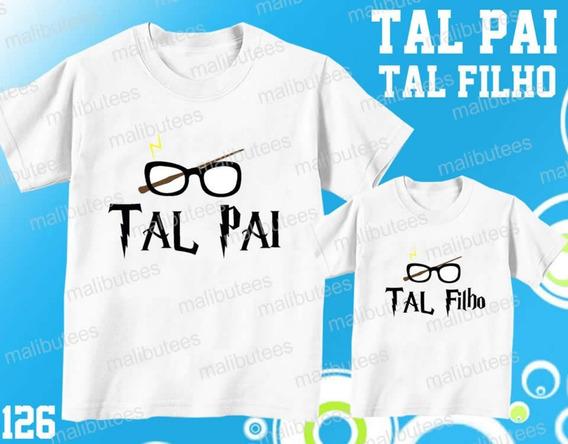 Kit C/2 Camisetas Tal Pai Tal Filho Harry Potter Ref 126