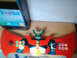 Tablero Arcade Doble Mazinger + Usb Con 8 Mil Juegos Para Pc
