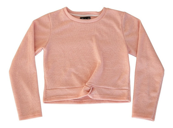 Sweater De Nena Cashmere Con Nudo Talles 8 Al 16 Piedrap