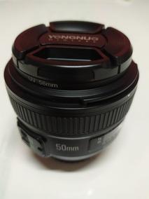 Lente Objetiva Yn 50mm F1.8 N Af Mf Yongnuo Nikon C/ Filtro