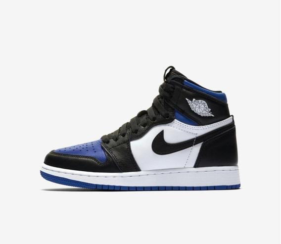 Nike Air Jordan 1 White Royal High Ds Com Box