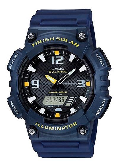 Relógio Casio Standard Tough Solar Azul Masculino Aq-s810w-2