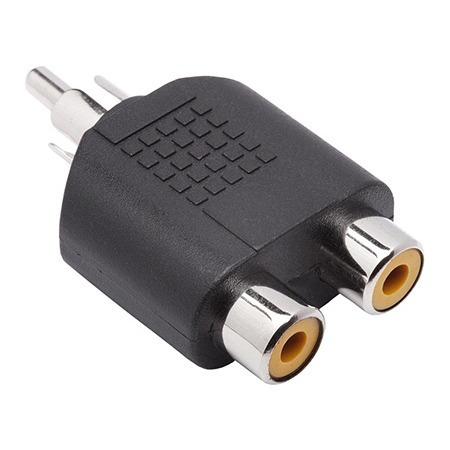 Adaptador Plug Rca X 2 Rca Duplicador Promoção Video