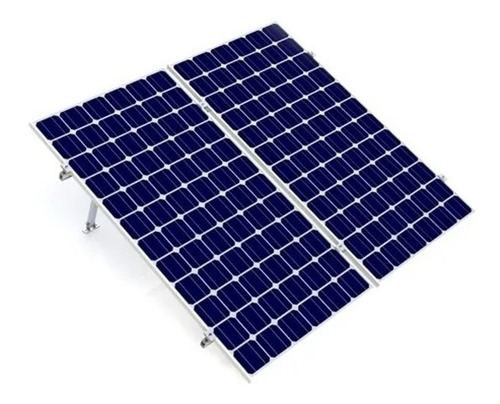 Imagen 1 de 6 de Kit Bases Para 2 Paneles Solares 60 Y 72 De 15 A 30 Grados