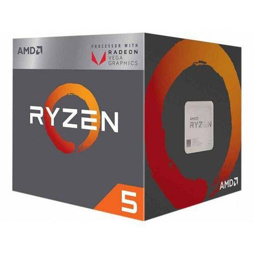 Processador Amd Ryzen 5 2400g 4 Core, 6mb, 3.6ghz, Am4,