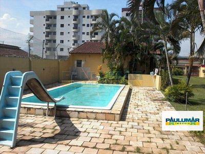Casa Com 3 Dorms, Piscina,lado Praia, Mongaguá - R$ 450.000,00 - V3507