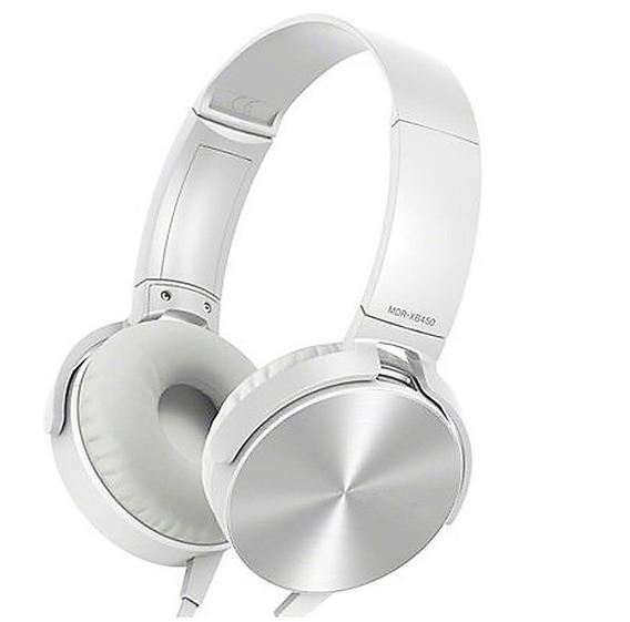 Fone Ouvido Xb450 Extra Bass Com Microfone Branco