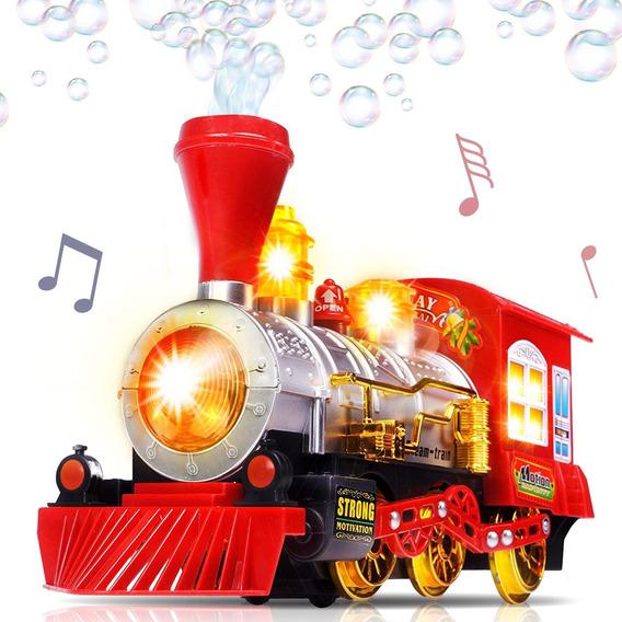 Artcreativity - Tren De Juguete Para Soplar Burbujas Con Luc