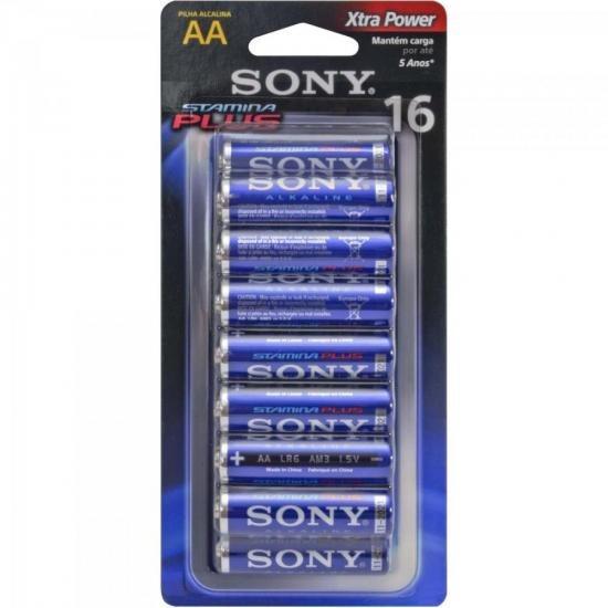 Pilha Alcalina 16 Aa Stamina Plus Am3-b16d Sony Caixa C/512
