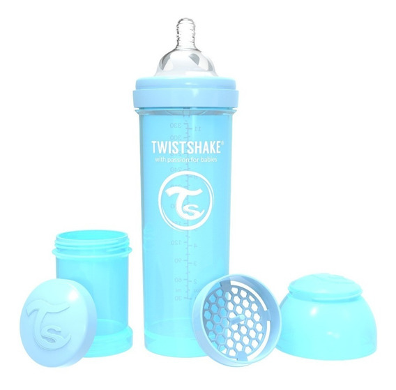 Twistshake Mamadera Anti-cólicos 330ml 4+m