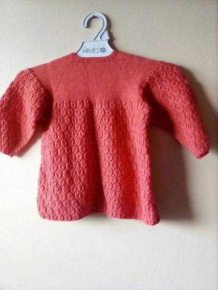 Sweater Vintage Para Nena Tejido A Mano